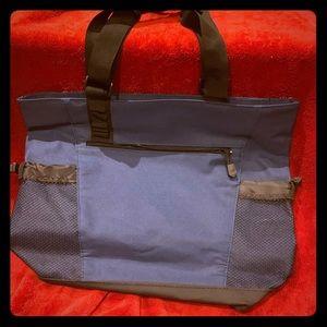 Handbags - Leeds navy blue and black tote bag